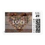 Wine cork rustic wedding stamp