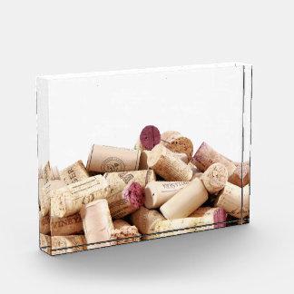 Wine Corks Acrylic Block