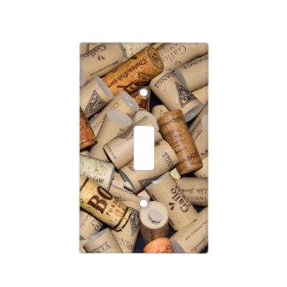 Wine Corks Background Light Switch Plate