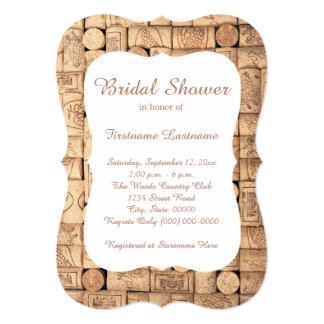Wine Corks Bridal Shower Invitations