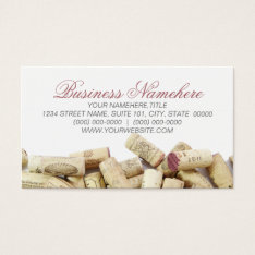 Wine Corks Business Cards at Zazzle