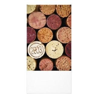 Wine corks card