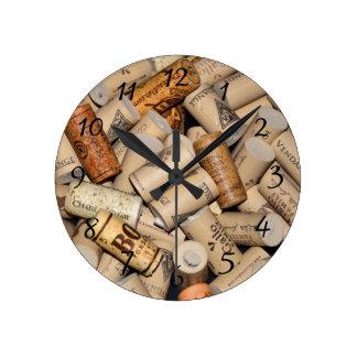 Wine Corks Round Wallclock