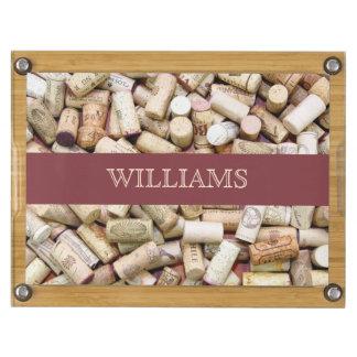 Wine Corks Custom Cheese Board