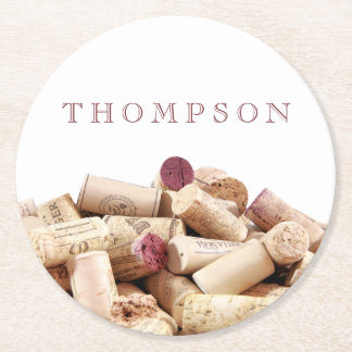 Wine Corks Custom Paper Coasters