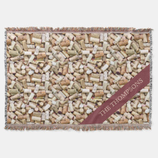 Wine Corks Custom Throw Blanket