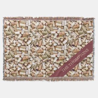 Wine Corks Custom Throw Blanket
