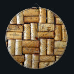 "Wine Corks Dart Board<br><div class=""desc"">An all over pattern of wine corks. Add your own text message!</div>"