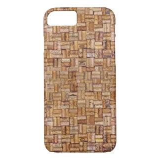 Wine Corks Ecru Tan Taupe Brown Beige iPhone 8/7 Case