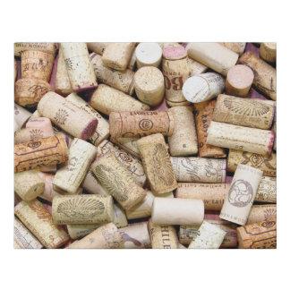 Wine Corks Faux Canvas Print