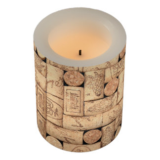 Wine Corks Flameless Candle