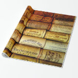 Wine Corks Galore Gift Wrap Paper
