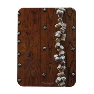 Wine corks hanging on wooden door flexible magnet