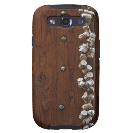 Wine corks hanging on wooden door samsung galaxy SIII case