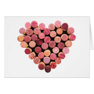 Wine Corks Heart Card