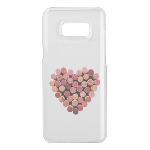 Wine Corks Heart Uncommon Samsung Galaxy S8+ Clearly Deflector Case