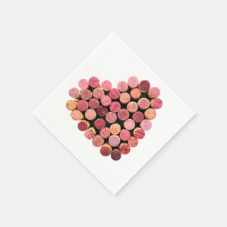 Wine Corks Heart Napkins