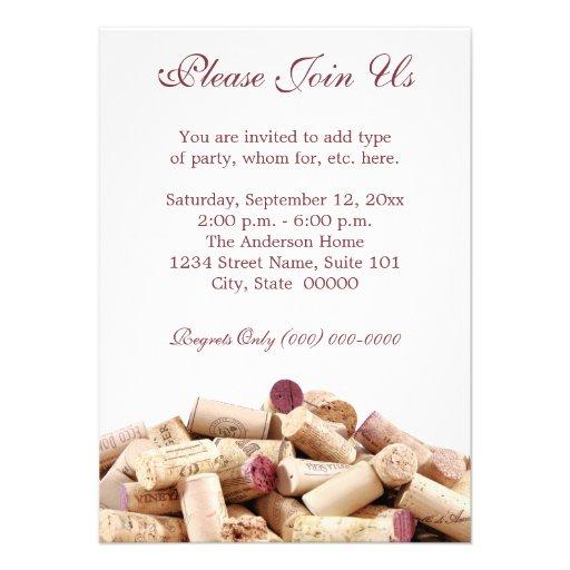 Wine Corks Invitations