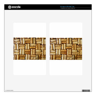 Wine Corks Kindle Fire Decal