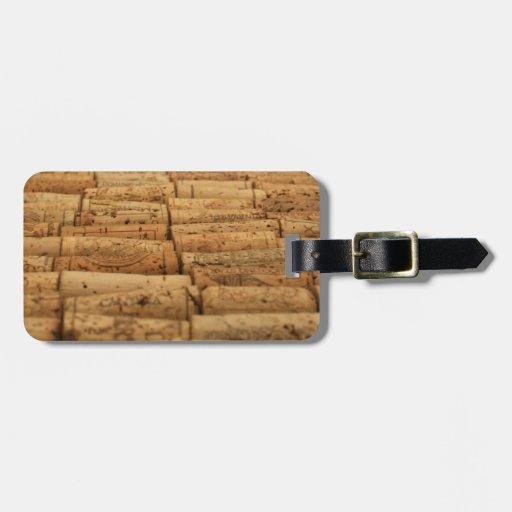 Wine Corks Luggage Tag