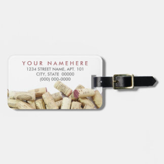Wine Corks Luggage Tag