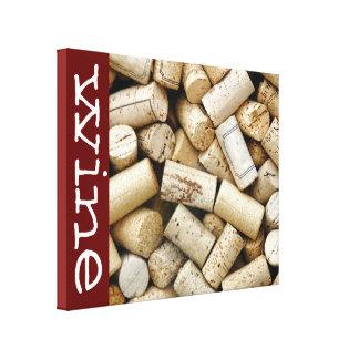 Wine Corks on 11x14 Canvas Print