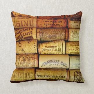 Wine Corks Throw Pillows