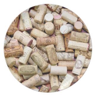 Wine Corks Plate