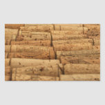 Wine Corks Rectangle Stickers