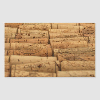 Wine Corks Rectangular Sticker