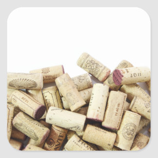 Wine Corks Square Sticker