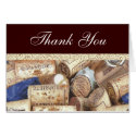 Wine Corks Thank You Card