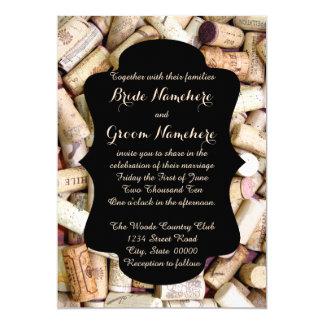 Wine Corks Wedding Invitations