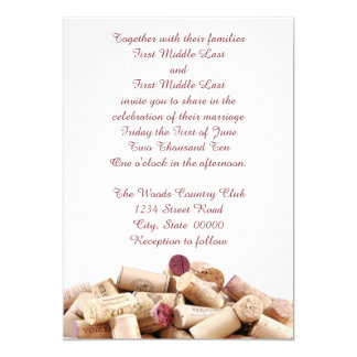 Wine Corks Wedding Invitations