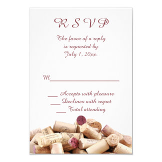 Wine Corks Wedding RSVP Card