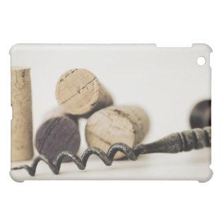 Wine corks with corkscrew iPad mini case