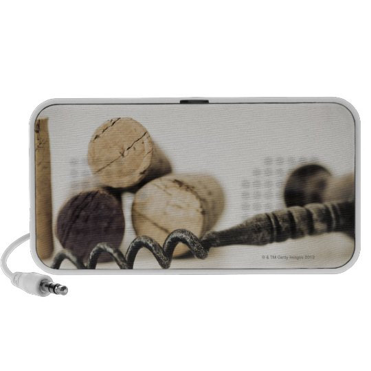 Wine corks with corkscrew portable speaker