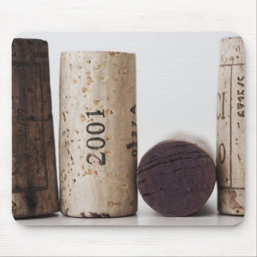 Wine corks with dates mouse pad