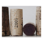 Wine corks with dates poster