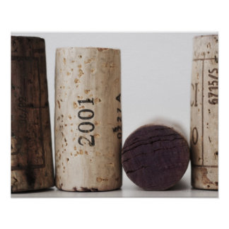 Wine corks with dates print