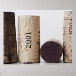 Wine corks with dates print