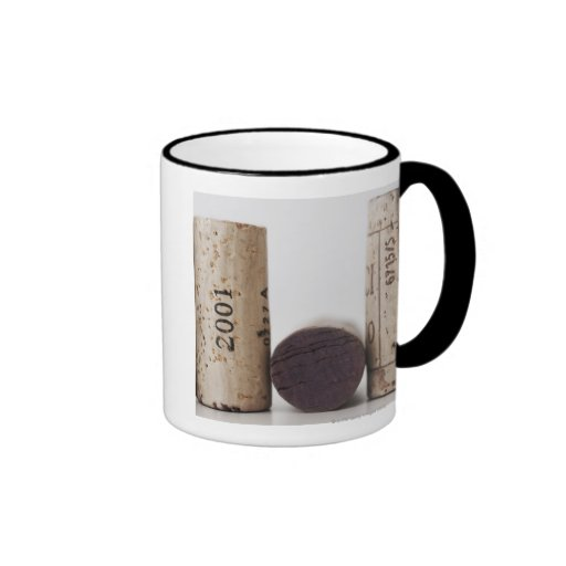 Wine corks with dates ringer mug