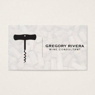 Wine   Corkscrew (cork pile) Business Card