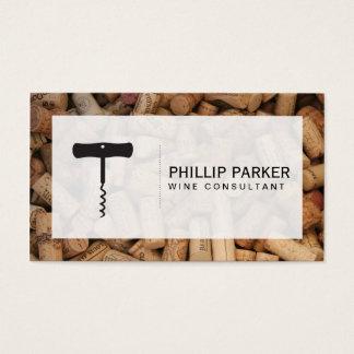 Wine   Corkscrew (cork pile) frame Business Card