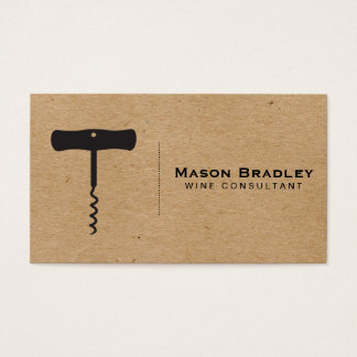 Wine | Corkscrew (natural) Business Card