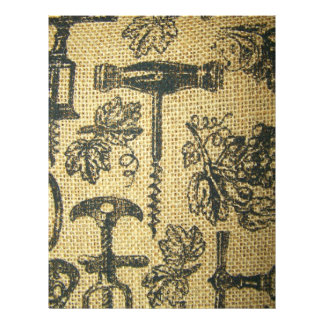 Wine Corkscrew Sepia Scrapbooking Paper