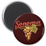 Wine Country 2 Inch Round Magnet