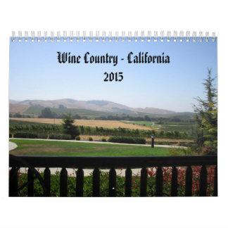 Wine Country - California 2015 Calendar