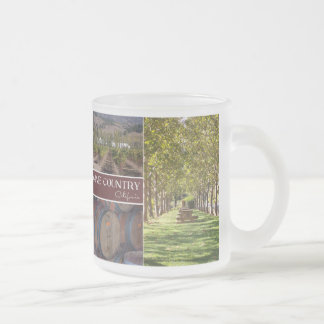 Wine Country, California Frosted Glass Coffee Mug