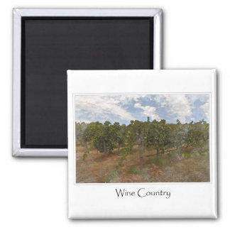 Wine Country Grape  Vineyard for Wine Theme 2 Inch Square Magnet